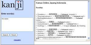 Kamus Online Jepang - Indonesia